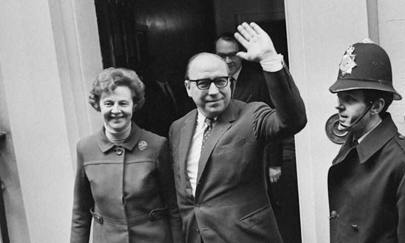 Jennifer and Roy Jenkins on budget day in 1970.