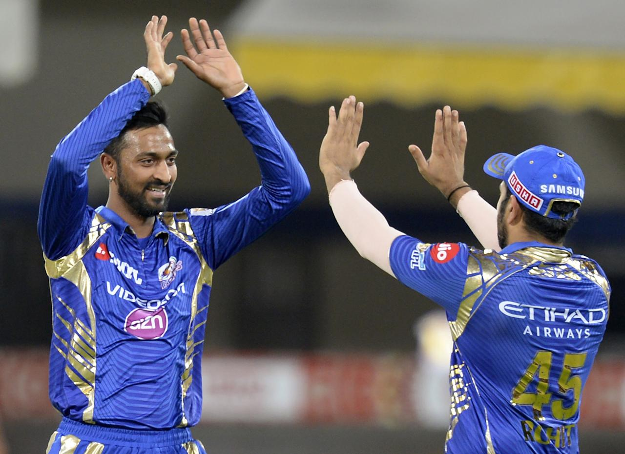 <p>The left-arm batsman and off-spinner has got 105 runs and 5 wickets in the competition. Pandya, who is a handy lower order batsman, played a brilliant innings against Royal Challengers Bangalore on 14 April. Text: The Quint </p>