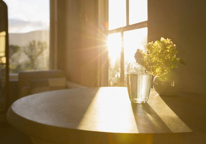 """<p>Yes, we know. This one seems a tad obvious, but simply <a href=""""http://www.scandinavianhomestaging.com/10-ways-to-bring-natural-light-into-your-home/"""" rel=""""nofollow noopener"""" target=""""_blank"""" data-ylk=""""slk:cleaning your windows"""" class=""""link rapid-noclick-resp"""">cleaning your windows</a> can have a major effect on how much sunlight streams into the room. The less dirt, dust, and splatters on your windows, the more sunshine can peek into your room. (Plus, cleaning a window is way easier than installing more windows.) </p>"""