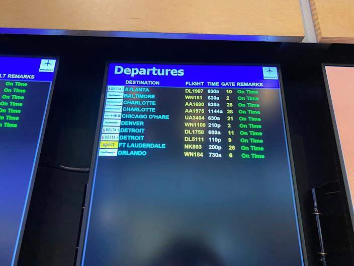 Airport social distancing practices