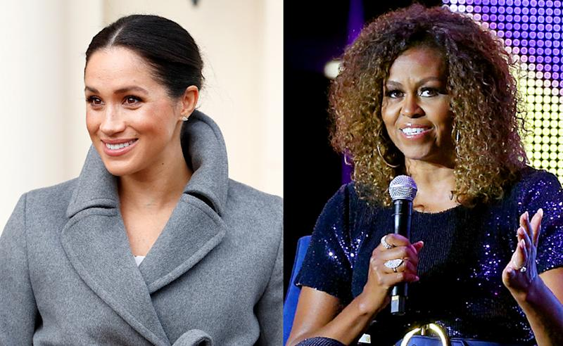 Meghan Markle interviewed Michelle Obama for the September issue of British Vogue. (Photos: Getty Images)