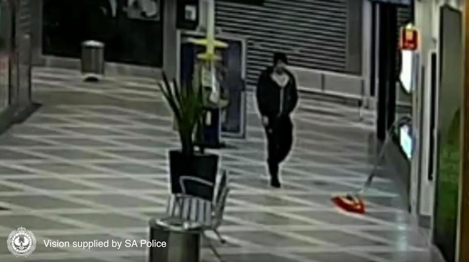 Police have released CCTV of this man inside the Parabanks Shopping Centre in Adelaide's north. Source: SA Police