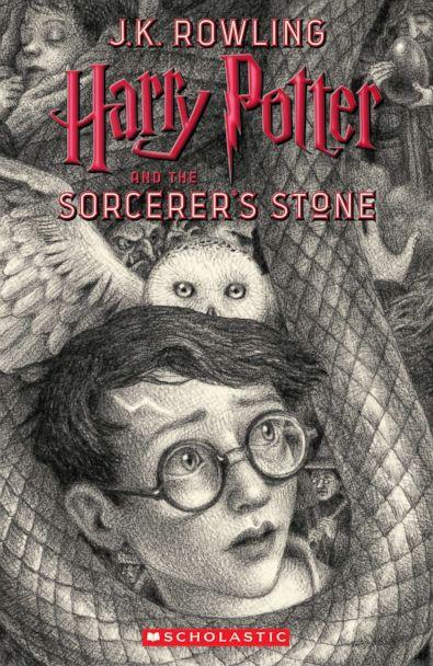 PHOTO: Scholastic's new book cover for 'Harry Potter and the Sorcerer's Stone,' featuring art by Brian Selznick, is pictured here. (Brian Selznick (c) 2018 by Scholastic Inc.)
