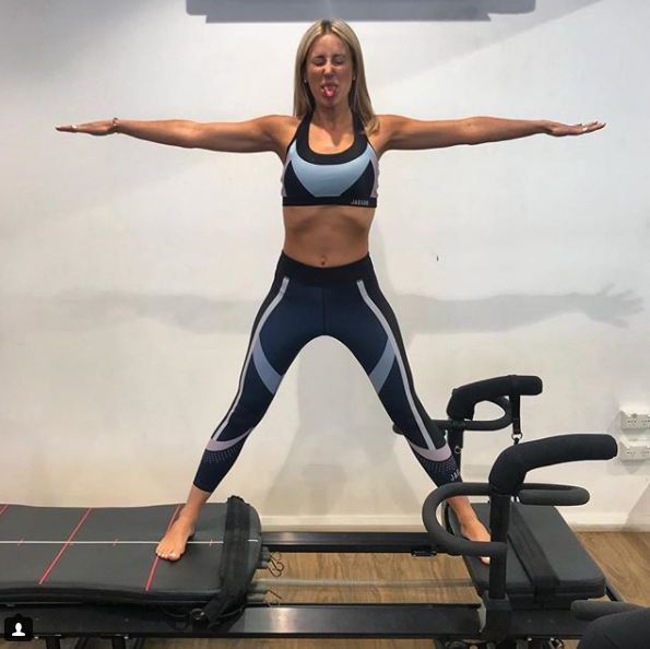 Roxy Jacenko is regularly seen working out at the gym. Source: Instagram