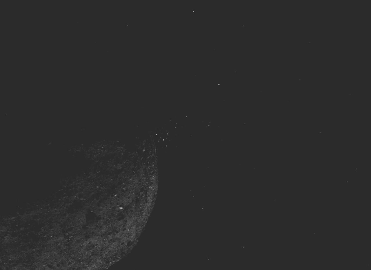 The OSIRIS-REx craft traveled to asteroid Bennu last year and won't return until 2023. But the mission is already throwing up unexpected findings, like plumes of particles which are being ejected from the surface of the asteroid.