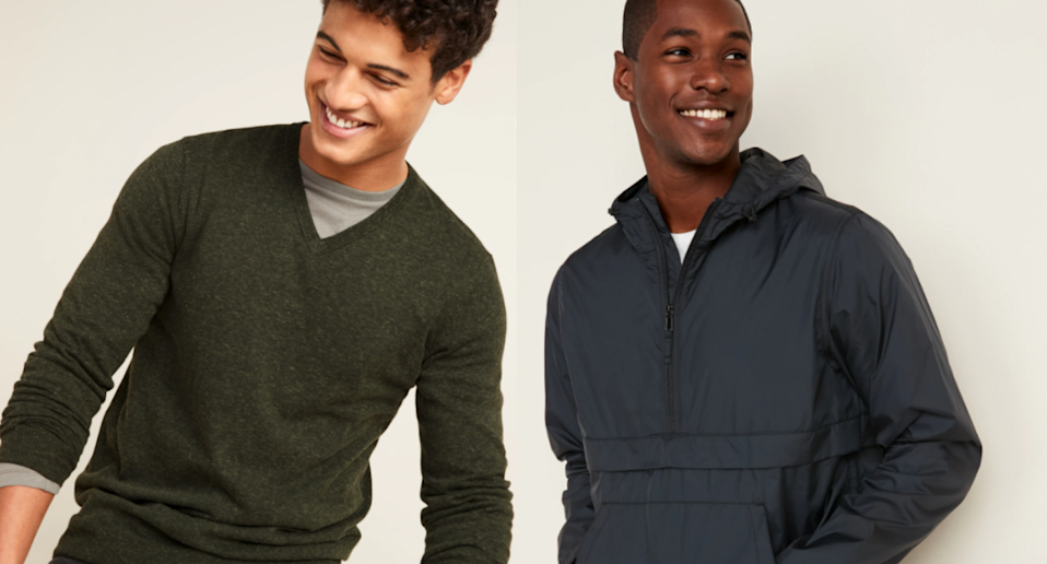 Save up to 50% on these top men's styles. Images via Old Navy.