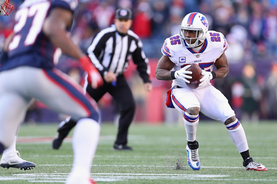 Bills running back LeSean McCoy did not earn a start in a game he played for the first time since 2010. (Photo by Maddie Meyer/Getty Images)
