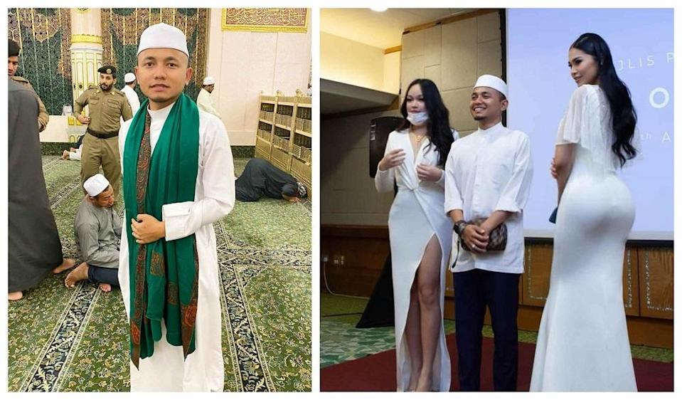 PU Amin and the Instagram influencers received negative comments from the public who claimed the photo was inappropriate during Ramadan month.  —  Pictures from Instagram/Nadira Isaac, PU Amin