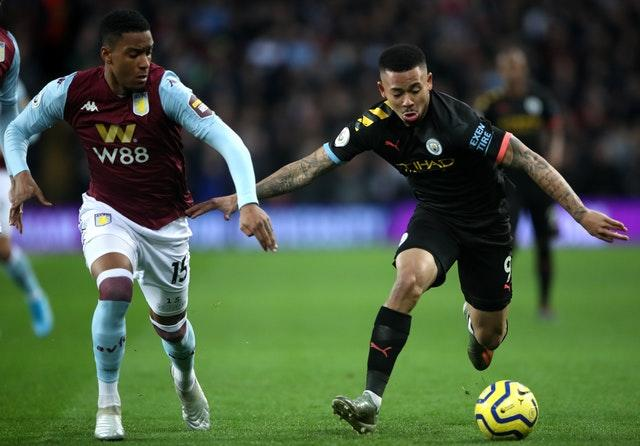 Gabriel Jesus was on target for Manchester City in a victory which took them second in the table
