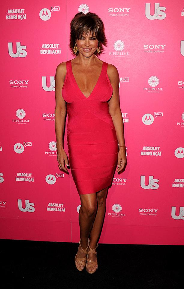 "Lisa Rinna looked tanner than usual in Herve Leger. Jason Merritt/<a href=""http://www.gettyimages.com/"" target=""new"">GettyImages.com</a> - April 22, 2010"