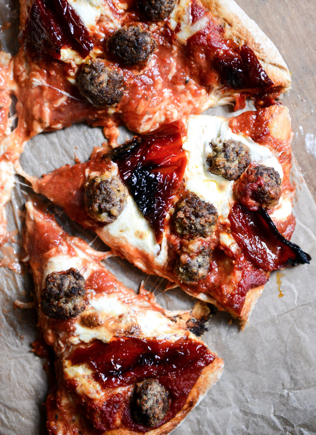 """<p>Best Friday night plans ever. </p><p><em><a href=""""http://www.howsweeteats.com/2013/10/mini-meatball-pizza-with-fresh-mozzarella-roasted-red-peppers/"""" rel=""""nofollow noopener"""" target=""""_blank"""" data-ylk=""""slk:Get the recipe from How Sweet It Is »"""" class=""""link rapid-noclick-resp""""><span class=""""redactor-invisible-space"""">Get the recipe from How Sweet It Is »</span> </a></em></p>"""