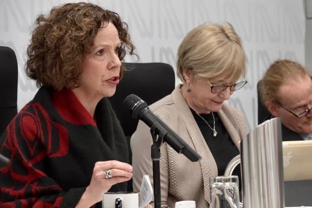 Sue Montgomery's lawyers will be in superior court Tuesday afternoon asking for a stay of proceedings and to have the ethics violations against her tossed. (Simon Nakonechny/CBC - image credit)