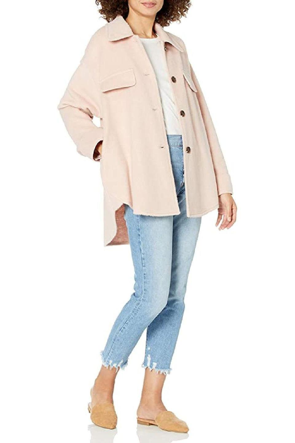 "<p><strong>The Drop</strong></p><p>amazon.com</p><p><strong>$69.90</strong></p><p><a href=""https://www.amazon.com/Drop-Womens-spreadfashion-Oversized-Jacket/dp/B08LJ6LZTL/?tag=syn-yahoo-20&ascsubtag=%5Bartid%7C10049.g.20108306%5Bsrc%7Cyahoo-us"" rel=""nofollow noopener"" target=""_blank"" data-ylk=""slk:Shop Now"" class=""link rapid-noclick-resp"">Shop Now</a></p><p>Part shirt, part jacket, your mom will love this pastel layering piece for brisk spring mornings and chilly summer nights.</p>"
