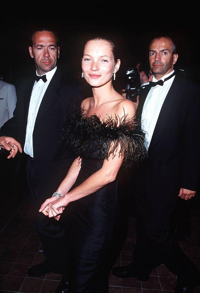 <p>The model wore a vintage dress to the film festival.</p>