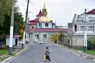 The Gypsy Hill neighbourhood in Soroca, 155 km north of Chisinau, is home to a collection of huge homes once owned by wealthy Roma