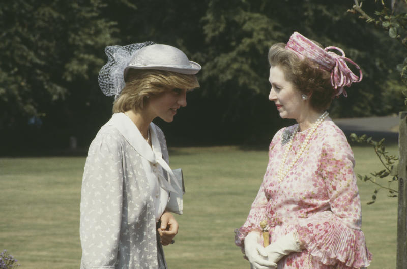 Diana, Princess of Wales (1961 - 1997) with her stepmother Raine Spencer, Countess Spencer (1929 - 2016) at Northampton, July 1983. (Photo by Jayne Fincher/Princess Diana Archive/Getty Images)