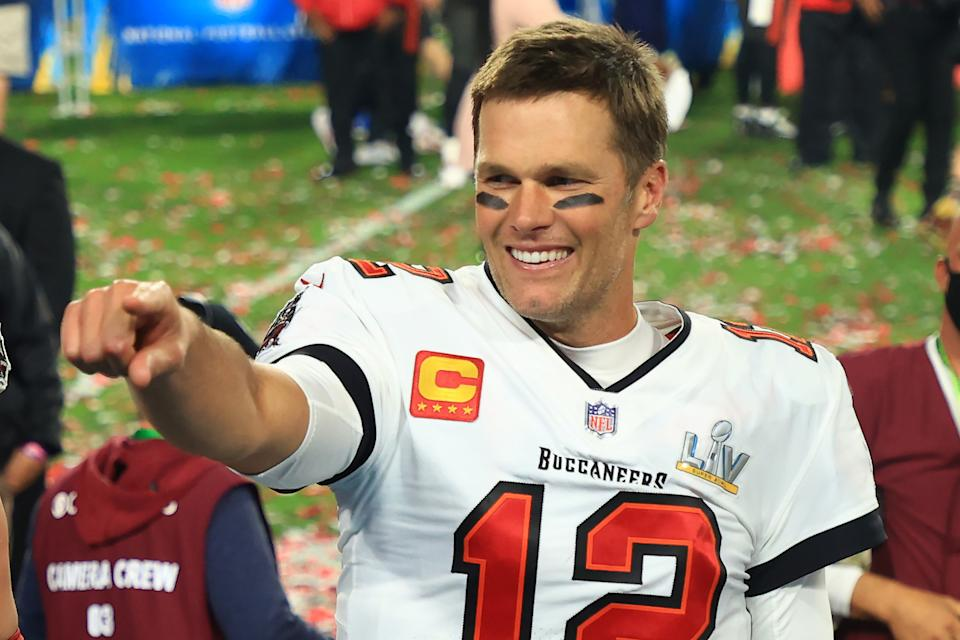 Tom Brady's seventh Super Bowl victory garnered MVP honors for a fifth time. (Mike Ehrmann/Getty Images)