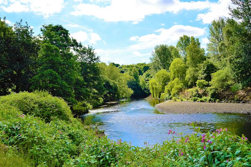 An image of the River Irwell in North West England.