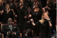 """<p>Faith Hill delivers a sparkling rendition of this ages-old hymn that takes us back to the very first Christmas. </p><p><a class=""""link rapid-noclick-resp"""" href=""""https://www.amazon.com/O-Come-All-Ye-Faithful/dp/B001GTVWHO/?tag=syn-yahoo-20&ascsubtag=%5Bartid%7C10055.g.2680%5Bsrc%7Cyahoo-us"""" rel=""""nofollow noopener"""" target=""""_blank"""" data-ylk=""""slk:AMAZON"""">AMAZON</a> <a class=""""link rapid-noclick-resp"""" href=""""https://go.redirectingat.com?id=74968X1596630&url=https%3A%2F%2Fmusic.apple.com%2Fus%2Falbum%2Fjoy-to-the-world%2F736889025&sref=https%3A%2F%2Fwww.goodhousekeeping.com%2Fholidays%2Fchristmas-ideas%2Fg2680%2Fchristmas-songs%2F"""" rel=""""nofollow noopener"""" target=""""_blank"""" data-ylk=""""slk:ITUNES"""">ITUNES</a></p>"""