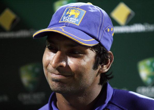 ADELAIDE, AUSTRALIA - FEBRUARY 19:  Player of the match Kumar Sangakkara of Sri Lanka smiles after the Commonwealth Bank Series One Day International match between Sri Lanka and India at the Adelaide Oval on February 19, 2008 in Adelaide, Australia.  (Photo by Simon Cross/Getty Images)