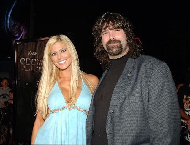 Torrie Wilson, WWE Diva and Mick Foley, WWE Raw Superstar (Photo by J.Sciulli/WireImage for LIONSGATE)