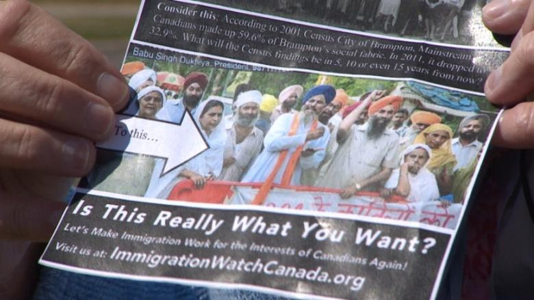 An anti-immigration flyer recently distributed in Brampton, Ont., does not constitute hate crime, Peel Regional Police say.