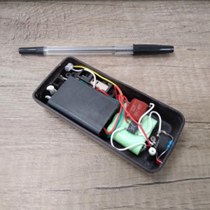 A mobile phone converted for use as a stun gun by Zoe Watts