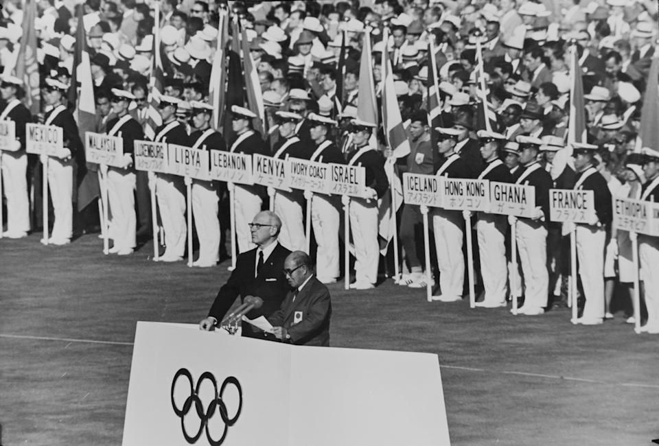 Opening ceremony at 1964 Tokyo Olympics (Getty)