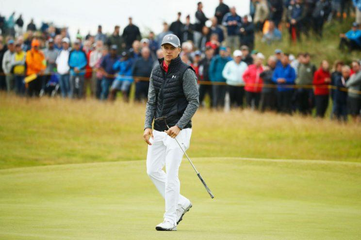 Jordan Spieth is the early leader at the Open Championship. (Getty)