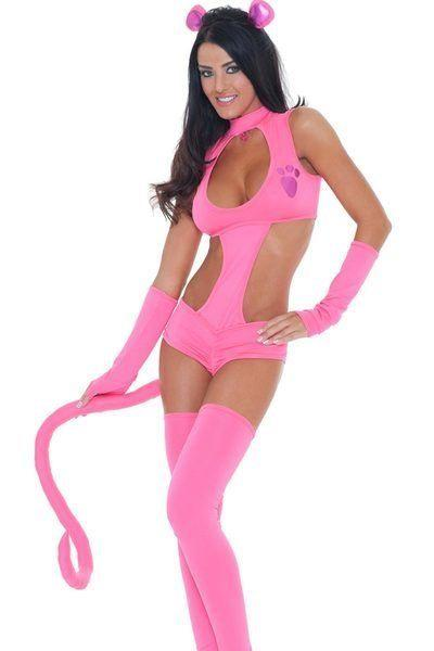 It's an annual dilemma: You want to dress up as a sexualized version of a cartoon character, but don't want to permanently scar children by dressing up as someone they might recognize. The solution may be this <span>hot-and-bothered version of the Pink Panther.</span> Or not.