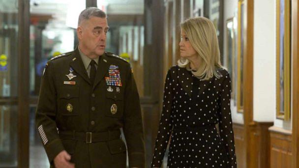PHOTO: Chairman of the Joint Chiefs of Staff Gen. Mark Milley and 'This Week' Co-anchor Martha Raddatz during their interview on 'This Week.' (ABC News)