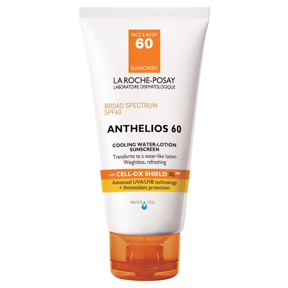 <p>You'll be surprised when you apply this <span>La Roche-Posay Anthelios 60 Cooling Water Lotion Sunscreen</span> ($36). Its water-like texture creates a chilling effect.</p>