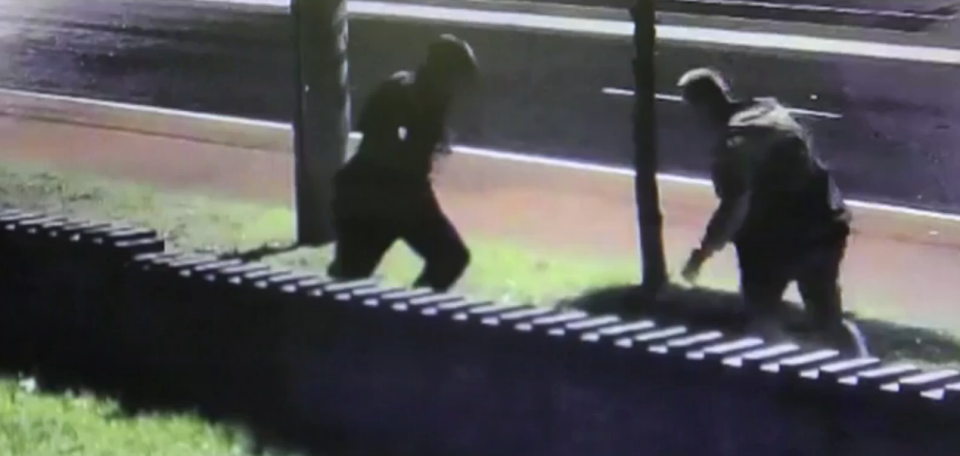 Police have released security video of the brutal assault of a 20-year-old man at a Parramatta bus stop on in January. Photo: NSW Police Media