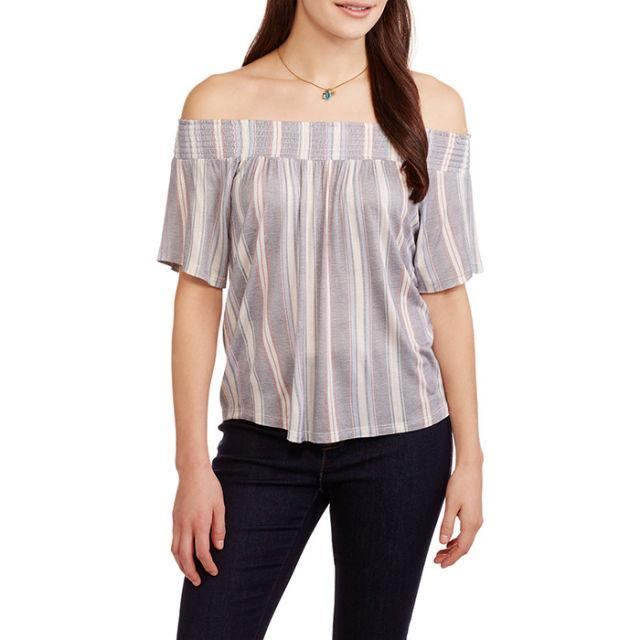 """<p>Off-the-shoulder tops are everywhere right now, so you might as well snag a couple of your own for about the same price as a cup of coffee. ($7; <a href=""""https://www.walmart.com/ip/Women-s-Soft-Knit-Off-the-Shoulder-Swing-Top/55000426?variantFieldId=actual_color"""" rel=""""nofollow noopener"""" target=""""_blank"""" data-ylk=""""slk:walmart.com"""" class=""""link rapid-noclick-resp"""">walmart.com</a>)</p><p><strong><a href=""""https://www.walmart.com/ip/Women-s-Soft-Knit-Off-the-Shoulder-Swing-Top/55000426?variantFieldId=actual_color"""" rel=""""nofollow noopener"""" target=""""_blank"""" data-ylk=""""slk:BUY NOW"""" class=""""link rapid-noclick-resp"""">BUY NOW</a></strong><br></p><p><strong>RELATED: <a href=""""http://www.redbookmag.com/fashion/trends/how-to/g1778/white-dresses-for-summer/"""" rel=""""nofollow noopener"""" target=""""_blank"""" data-ylk=""""slk:13 Little White Dresses That'll Get You Through Summer's Hottest Days"""" class=""""link rapid-noclick-resp"""">13 Little White Dresses That'll Get You Through Summer's Hottest Days</a></strong><br></p>"""