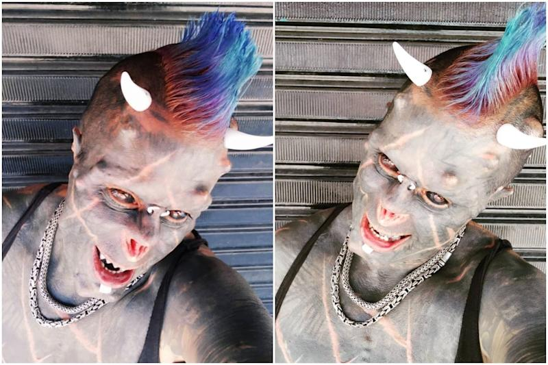 Brazilian Man Gets His Nose Removed to Look Like the 'Human Satan'