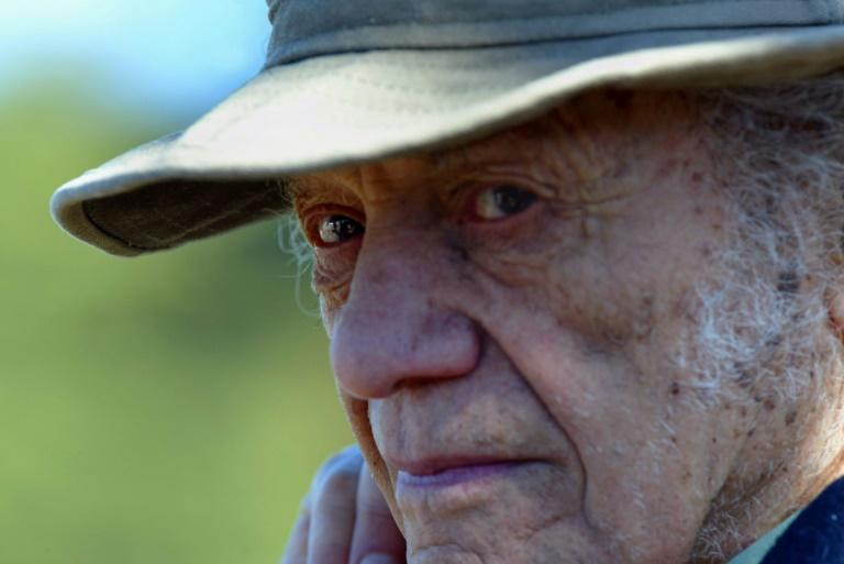 Chilean poet Nicanor Parra, who has died at age 103, is pictured during a July 2004 celebration of the birthday of fellow countryman and Nobel laureate Pablo Neruda