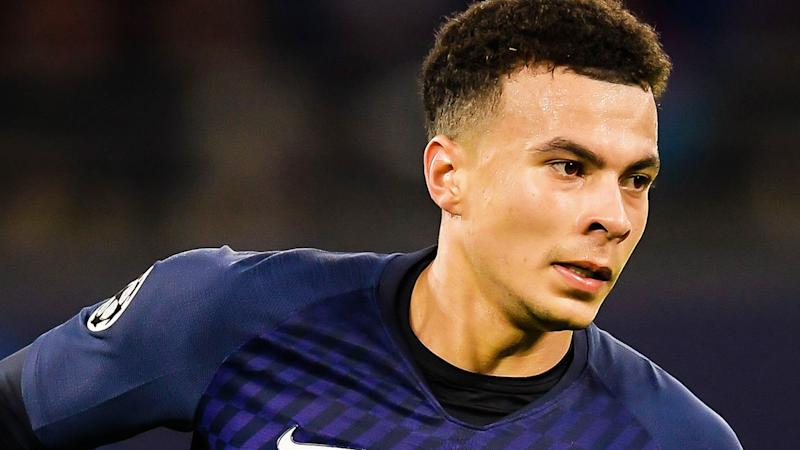 Dele Alli is pictured playing for Tottenham.