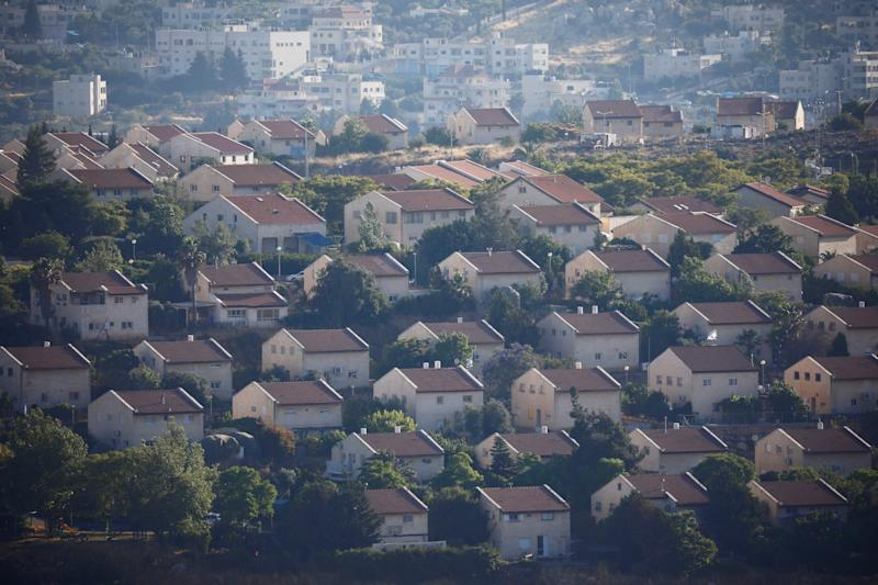 Houses are seen in the Israeli settlement of Ofra in the occupied West Bank