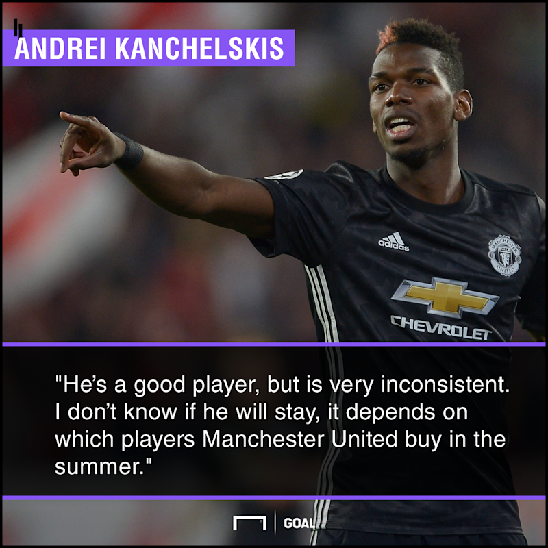 Paul Pogba inconsistent may leave Andrei Kanchelskis