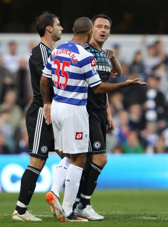 Terry was banned for four matches and fined £220,000 for racially abusing QPR defender Anton Ferdinand in 2012 (Nick Potts/PA)