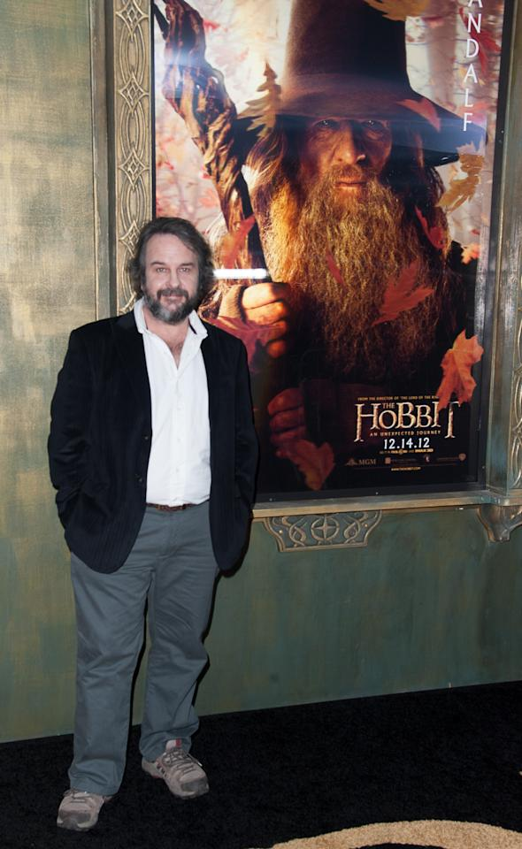 "NEW YORK, NY - DECEMBER 06:  Director Peter Jackson attends ""The Hobbit: An Unexpected Journey"" New York premiere benefiting AFI at Ziegfeld Theater on December 6, 2012 in New York City.  (Photo by Dave Kotinsky/Getty Images)"