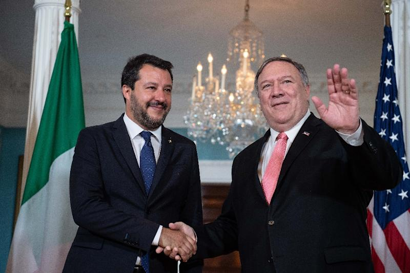 US Secretary of States Mike Pompeo met with Italian Deputy Prime Minister Matteo Salvini in Washington