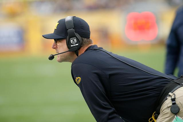 Jim Harbaugh is entering his fourth season as Michigan's coach. (Getty)
