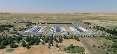 Artist rendering of planned expansion at Zoned Properties' Chino Valley Cultivation Facility: East View.