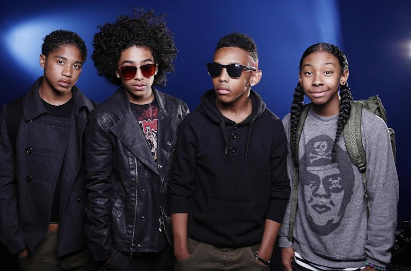 In this March 8, 2012 photo, members of teen R&B boy band Mindless Behavior, from left, Roc Royal, Princeton, Prodigy and Ray Ray pose for a portrait in New York. Mindless Behavior, who has toured with Justin Bieber and Janet Jackson, is one of many boy bands who have recently emerged on the music scene since *NSYNC and Backstreet Boys dominated pop music in the 1990s.(AP Photo/Carlo Allegri)