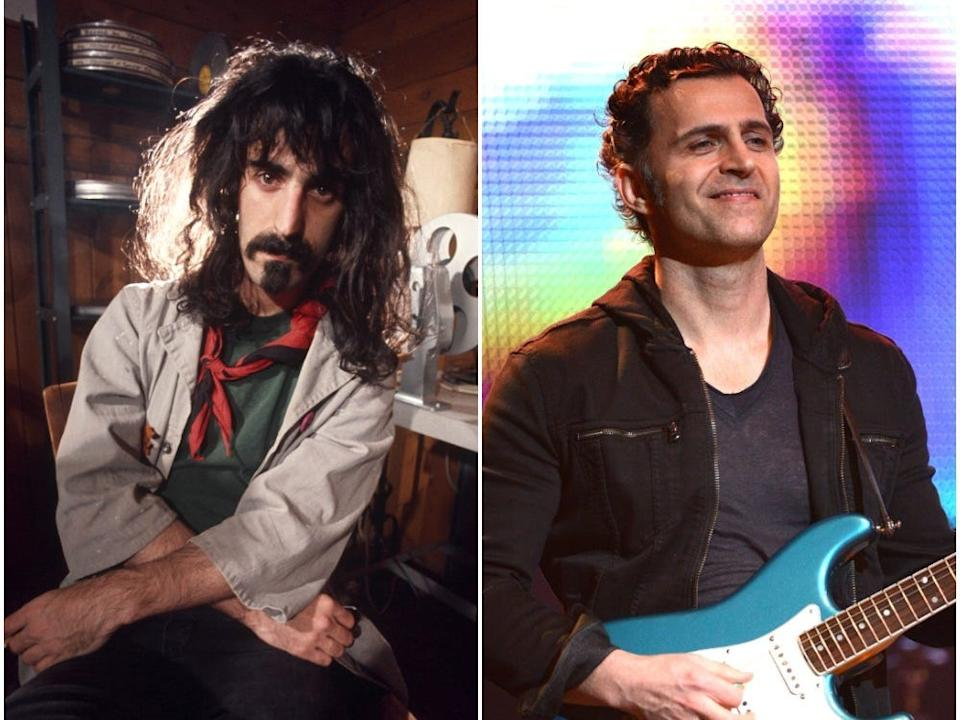 Frank and Dweezil Zappa.