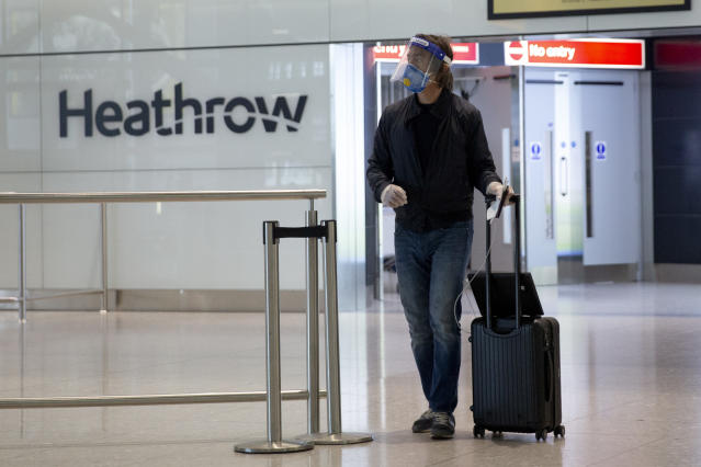Heathrow is urgently calling for a passenger testing regime. Photo: Matt Dunham/AP