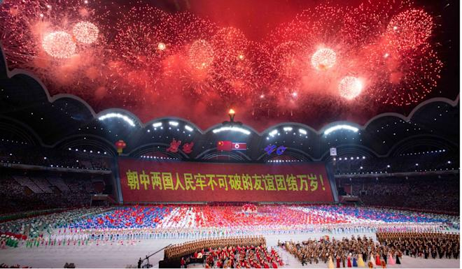 The performance celebrated 70 years of diplomatic relations between North Korea and China. Photo: Xinhua