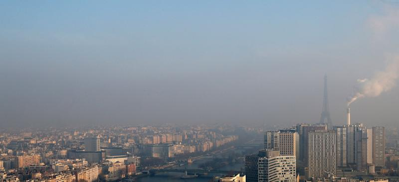 Smog clinging to the skyline of Paris. Indoor air pollution isn't always as visible as outdoor pollution.
