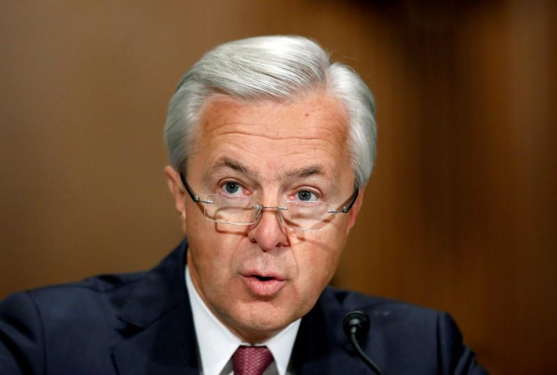 FILE PHOTO: Wells Fargo CEO Stumpf testifies before Senate Banking Committee hearing on firm's sales practices on Capitol Hill in Washington